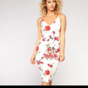 Floral Midi Fashion Nova Dress